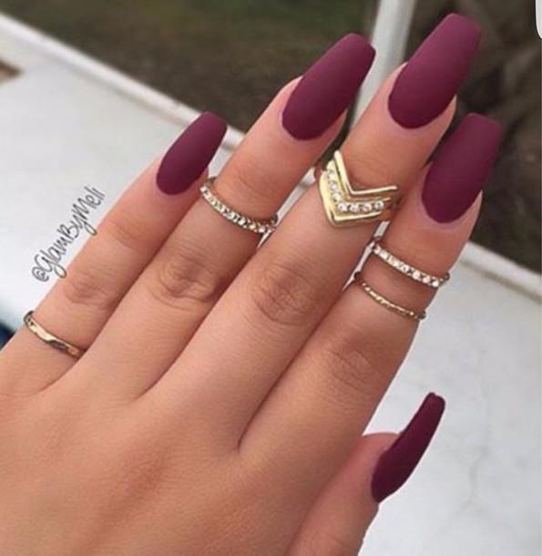 Nail polish: opi, burgundy, matte nail polish - Wheretoget