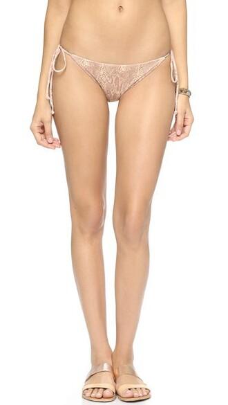 bikini bikini bottoms snake swimwear