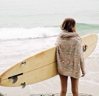 cardigan cardi stripes nude beige surf beach sparkle sweater summer sports