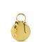 Round mini leather coin purse