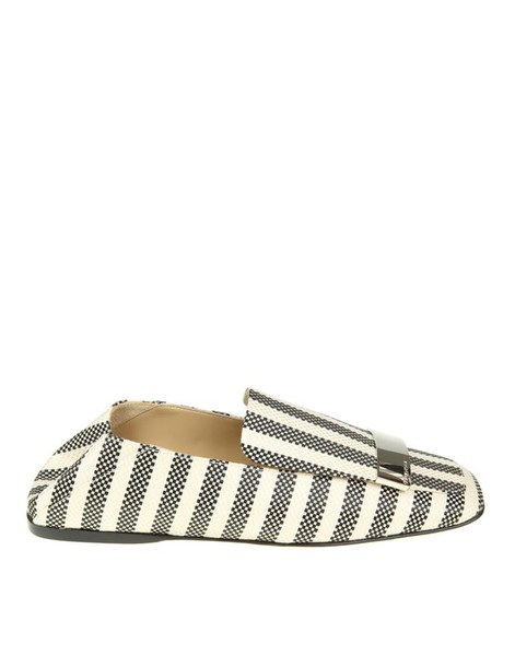 Sergio Rossi metal loafers white black black and white shoes