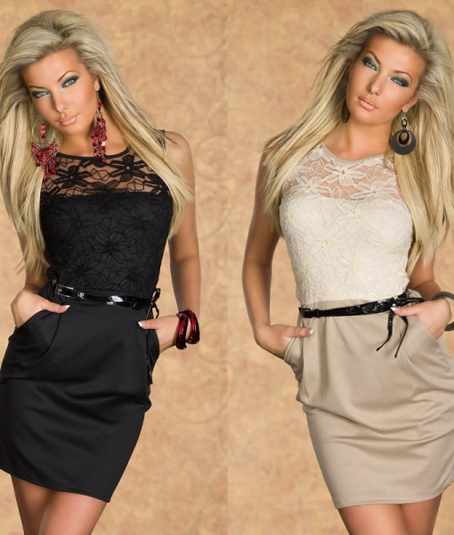 2014 New Fashion Dress Women Clothing Work wear Girl Sexy Party Work Style with belt Novelty Lace Print Summer Dresses 9031 | Amazing Shoes UK