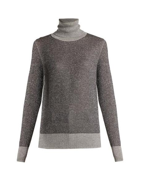 Joseph - Metallic Wool Blend Roll Neck Sweater - Womens - Grey