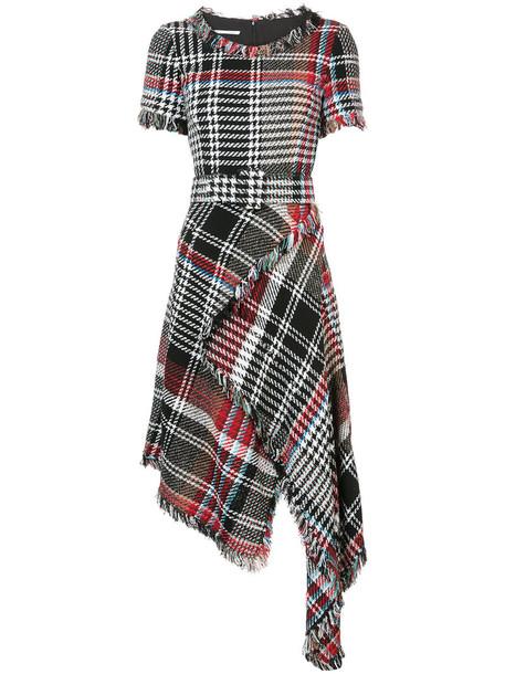 oscar de la renta dress short women cotton black