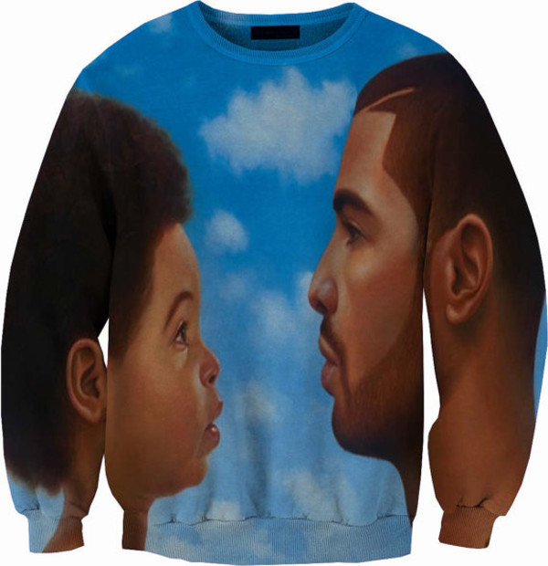 sweater drake blue shirt rapper hip hop clouds nothing was the same music