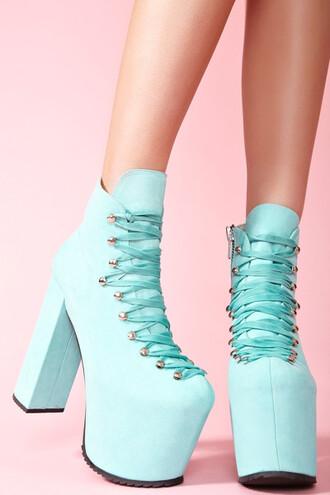 unif shoes turquoise platform shoes