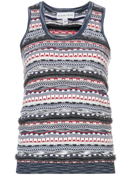 Carven tank top top women cotton knit