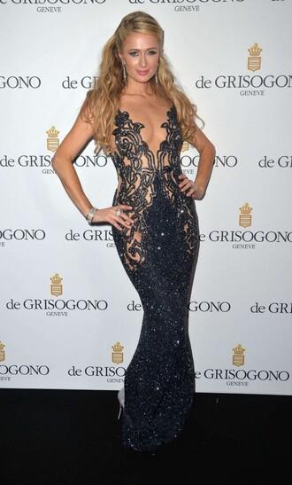 dress gown prom dress paris hilton cannes sparkle
