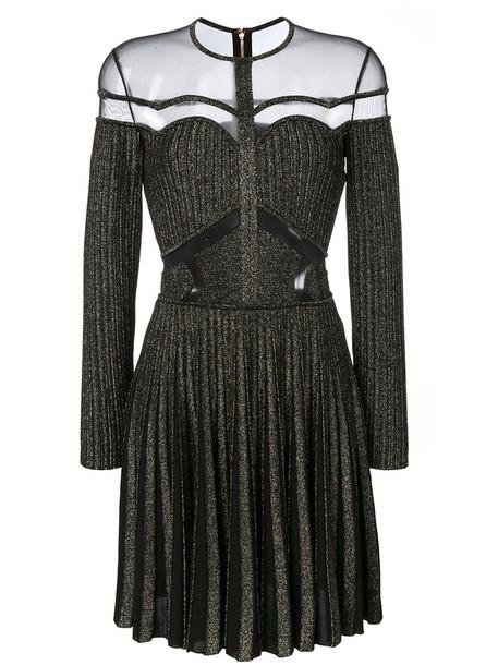 dress mesh women black knit