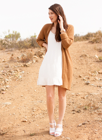 these days blogger dress cardigan jewels shoes