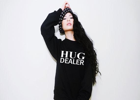 Hug dealer funny saying unisex fleece/sweatshirt by mydagreat