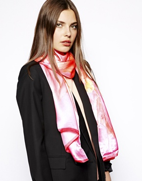 Ted Baker | Ted Baker Sugarr Floral Print Silk Scarf at ASOS