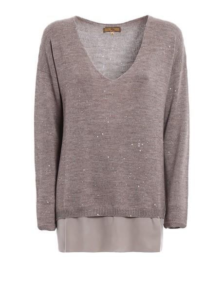 FAY sweater wool sweater wool beige