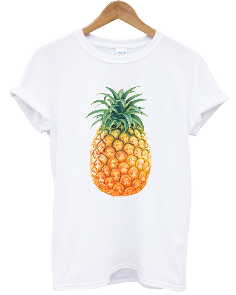 Pineapple T Shirt Funny Tumblr Food Hipster Hipsta Fashion Women Top Men Girl | eBay