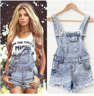 jumpsuit grey dungarees denim charlie stone romper top summer outfits high waisted shorts style t-shirt denim overalls shirt short overalls jeans