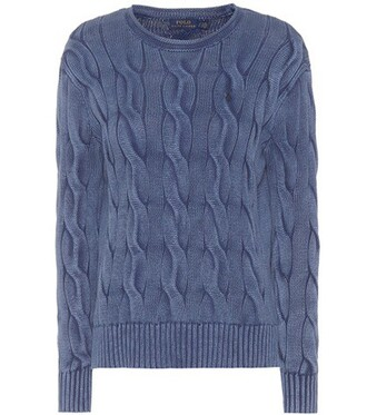 sweater cotton knit blue