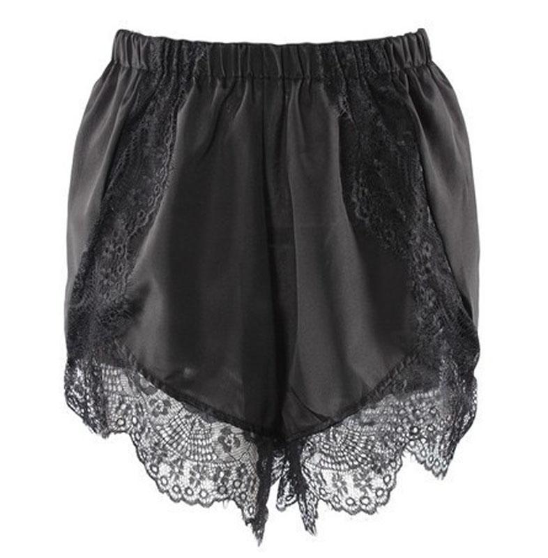 New Sexy Women Celeb Lace Hem Chiffon Casual Slim Beach Short Elastic Waist Pant