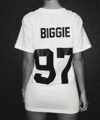 shirt biggie 97 girls t-shirt warm biggie smalls biggie 97 biggie tshirt rapper rap streetwear hip hop shirt hipster