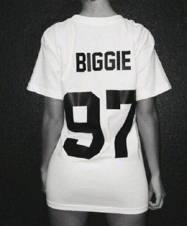 shirt biggie 97 girl t-shirt warm biggie smalls biggie 97 biggie tshirt rapper rap hip hop hip hop shirt hipster