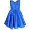Blue taffeta party dress | style icon`s closet