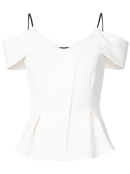 Roland Mouret shirt women white wool top