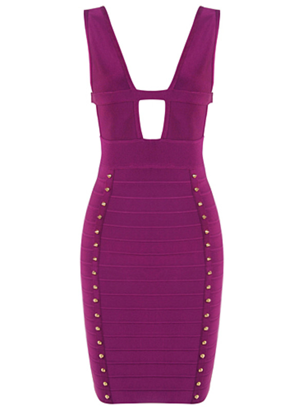 dress beyonce dress purple dress bandage dress celebrity style