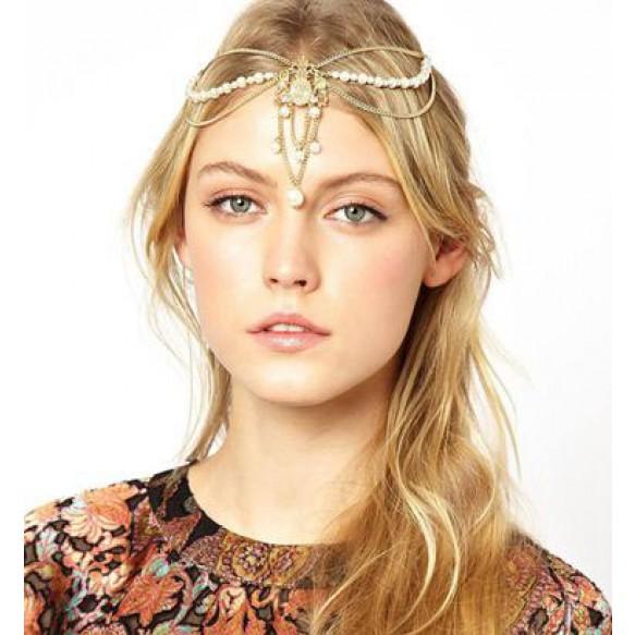 Filigree And Pearl Charm Hair Crown
