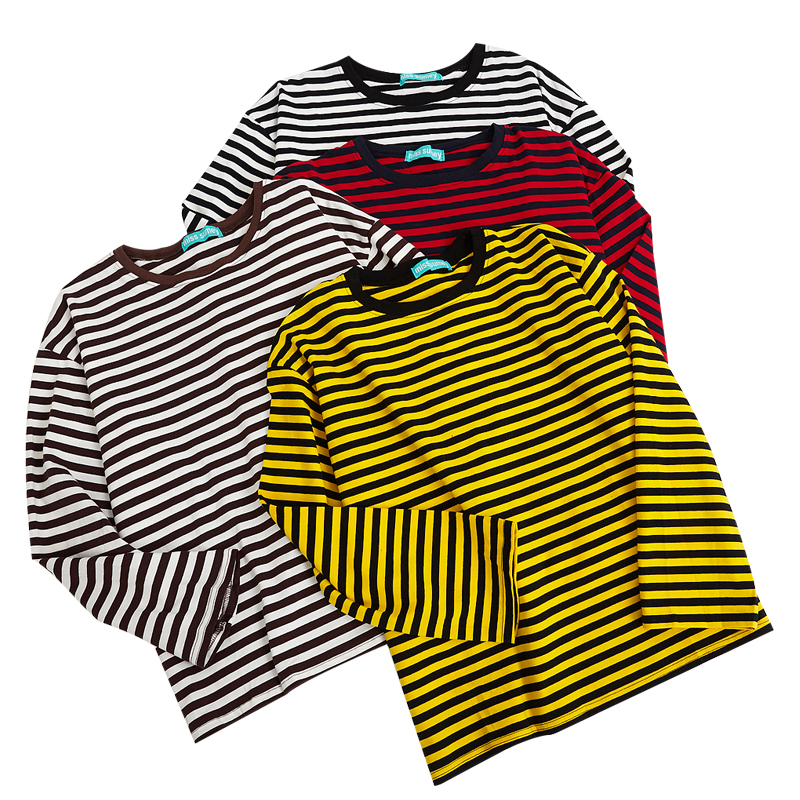 Grunge Stripe Longsleeved Top (4 colours)