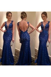 dress,prom dresses 2016,mermaid dresses,mermaid prom dress,backless prom dress,blue dress,blue prom dress,royal blue prom dress,illusion necklne prom dress,illusion bodice prom dresses,lace dress,lace prom dress,blue lace dress,long evening dress,long prom dress,blue long prom dress,open backless,open back dresses,open back prom dress,open back,prom dress,2016 prom dresses