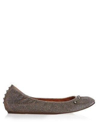 metallic ballet embellished flats ballet flats shoes