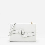 bag,charles keith,minimalist,white bag,leather bag,shoulder bag,origami,knot