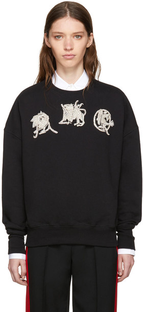 Alexander Mcqueen sweatshirt black sweater
