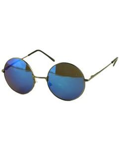 Blue round lens sunglasses