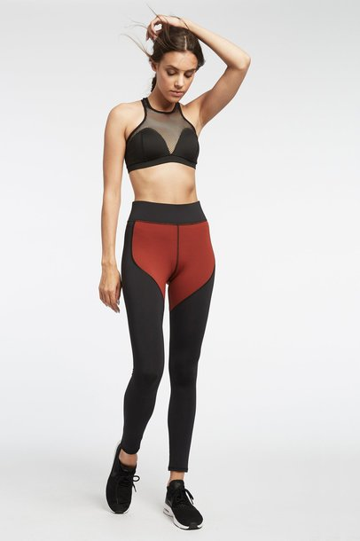 436d63a27389f leggings fit red orange workout leggings high waisted sports bra fitness  fall outfits mesh workout cropped