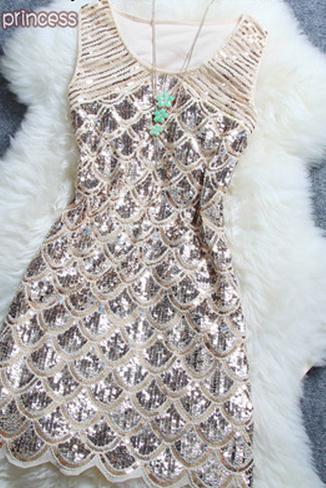 Fashion ellegant shining sequins dress b12