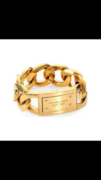 jewels michael kors bracelet michael kors gold armband. Black Bedroom Furniture Sets. Home Design Ideas