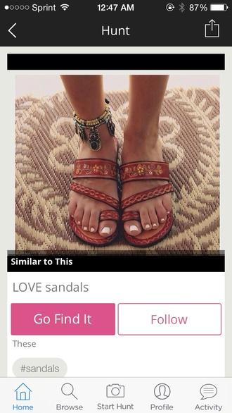 shoes aztec pattern sandals flip-flops beach