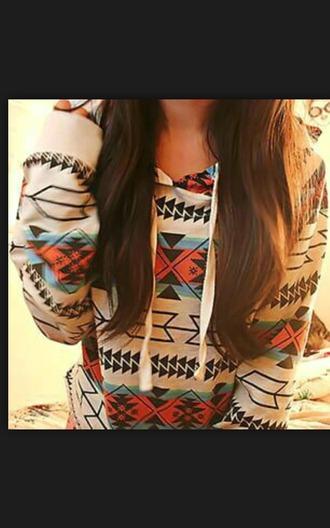 sweater printed sweater aztec cute