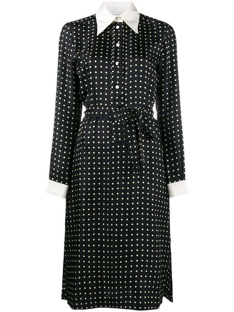 Bella Freud dress long sleeve dress long women black silk