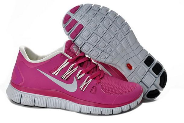 shoes nike free run 5.0 magenta low top sneakers nike