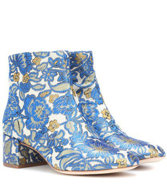 ankle boots blue shoes