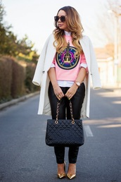 cashmere in style,blogger,coat,pants,shirt,sweater,bag,shoes,jewels,sunglasses