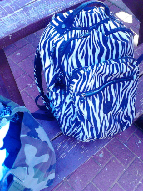 bag kipling school bag and laptop blake white