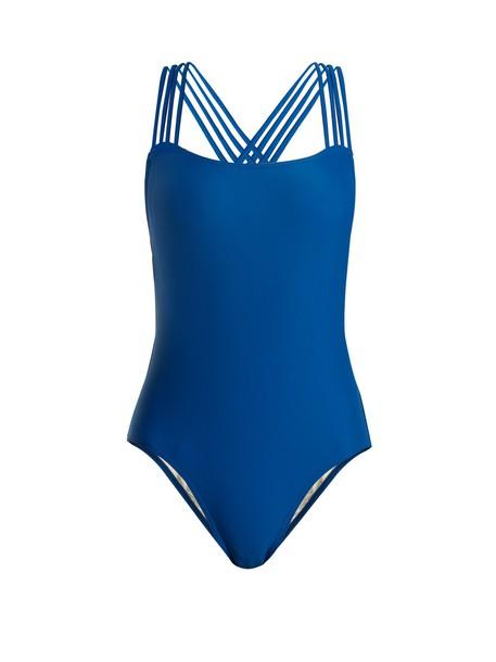 PEPPER & MAYNE cross back blue swimwear