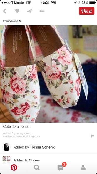 floral toms toms roses floral
