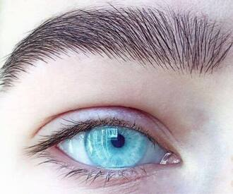 make-up contacts blue brows fleek turquoise eyes