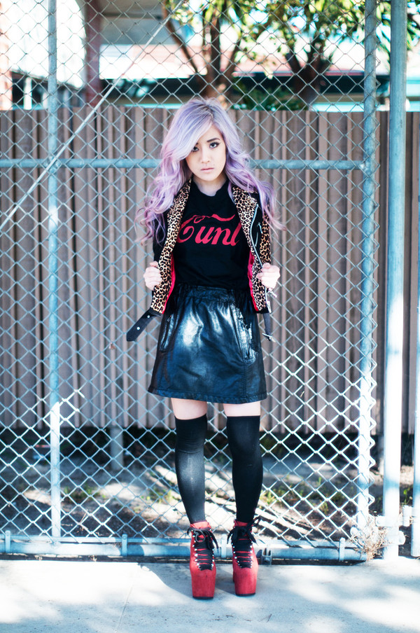 feral creature tank top jacket skirt shoes