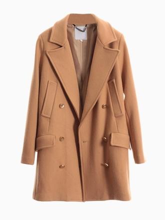 coat winter outfits grey caramel classic winter coat