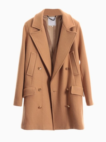 caramel winter coat grey classic winter coat