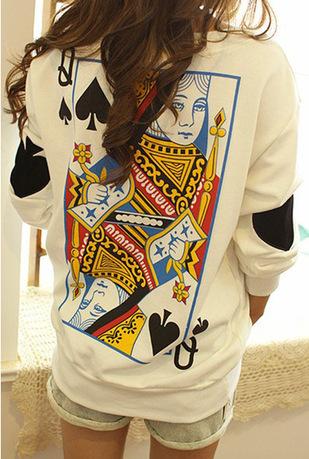 Popular clothing — q spades poker big yards loose long